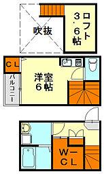 福岡県福岡市城南区七隈5丁目の賃貸アパートの間取り