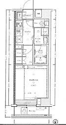 JR総武線 信濃町駅 徒歩7分の賃貸マンション 4階1Kの間取り