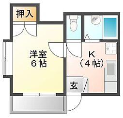 駒金屋 7[2階]の間取り
