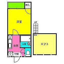 福岡県福岡市博多区南八幡町2丁目の賃貸アパートの間取り