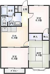 星崎第3アパート[322号室]の間取り