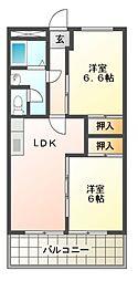 伊勢スカイマンション[6階]の間取り