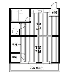 東京都板橋区向原3丁目の賃貸マンションの間取り