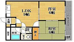 メゾンプレザーント松ヶ丘[2階]の間取り