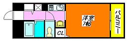 ジュネス・高井田 203号室[2階]の間取り
