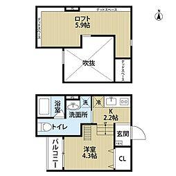 Attic堺(アティックサカイ)[1階]の間取り