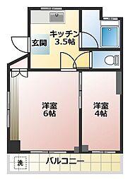 サンライトマンション[3階]の間取り