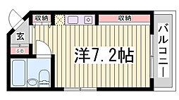 アコーズタワー神戸イースト[2階]の間取り
