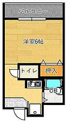 グランヴェール深澤[4階]の間取り