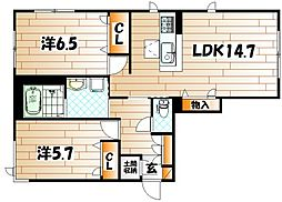 NADYA上富野[1階]の間取り