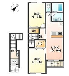 仮)沼津市原新築アパート[202号室]の間取り
