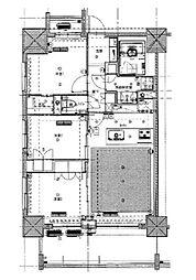 東京メトロ丸ノ内線 新宿御苑前駅 徒歩5分の賃貸マンション 3階3LDKの間取り