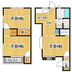 カーサ中田3号棟[2階]の間取り