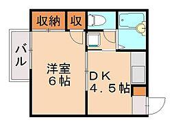 ヴィラウィステリア[2階]の間取り
