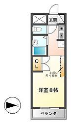 ユーノディア6[1階]の間取り