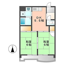 オクトII[2階]の間取り