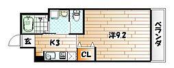 福岡県北九州市八幡東区昭和2丁目の賃貸アパートの間取り