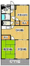 第三カスヤマンション[305号室]の間取り