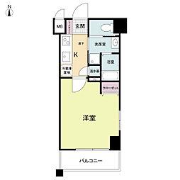 ラクラス大阪城[0705号室]の間取り