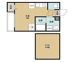 若江岩田駅徒歩14分 アリエス・コート若江南[203号室]の間取り