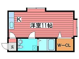 アーバン館福住[3階]の間取り