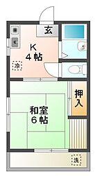 ホクエイハイム[1階]の間取り