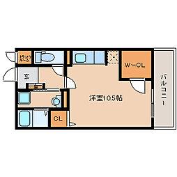 兵庫県尼崎市戸ノ内町2丁目の賃貸アパートの間取り
