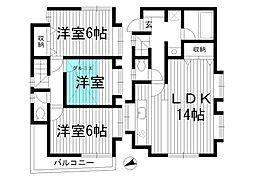 [一戸建] 東京都杉並区本天沼2丁目 の賃貸【東京都 / 杉並区】の間取り