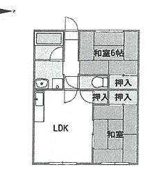 メゾン武庫之荘3番館[323号室]の間取り