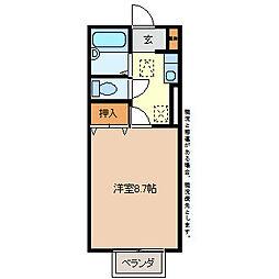 セジュールオークヤード[2階]の間取り