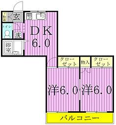 ウルルーズコートi[2階]の間取り