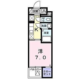 シェモワ 八尾[203号室]の間取り