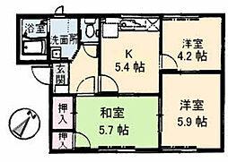 フレグランス宮郷 A棟[2階]の間取り