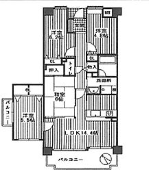 藤和シティホームズ泉ヶ丘1番館(竹城台東小学校区)[5階]の間取り