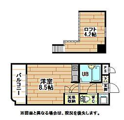 福岡県北九州市戸畑区新川町の賃貸マンションの間取り