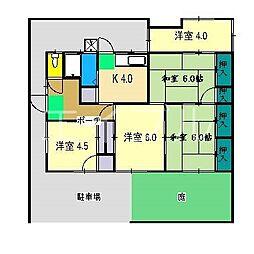 [一戸建] 高知県高知市介良 の賃貸【/】の間取り