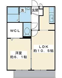 千葉県浦安市堀江3丁目の賃貸アパートの間取り