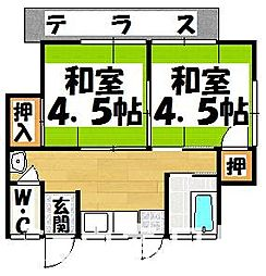 [一戸建] 福岡県春日市桜ヶ丘5丁目 の賃貸【/】の間取り