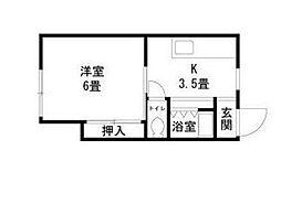 神奈川県横浜市神奈川区羽沢南1の賃貸アパートの間取り