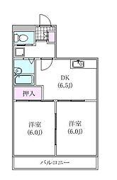 與作ビル[2階]の間取り