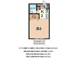 静岡県駿東郡長泉町下土狩の賃貸アパートの間取り