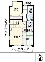 ロッシェド長須賀[1階]の間取り