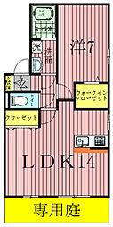 ロイヤルパークスEF[2階]の間取り