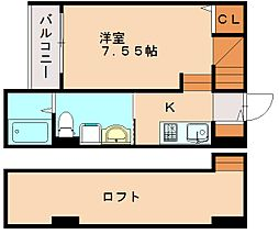 クレアポルト井尻[2階]の間取り