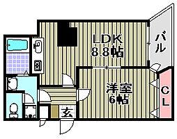 PARK岸和田2[305号室]の間取り