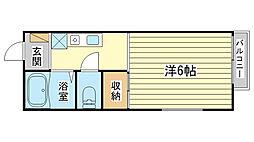 NISHIKI[101号室]の間取り