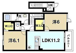奈良県奈良市菅原町の賃貸アパートの間取り