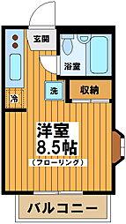 東京都渋谷区笹塚2丁目の賃貸アパートの間取り