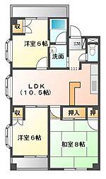 マンションカオル[3階]の間取り