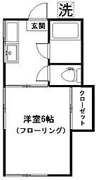 中野コーポ[101号室]の間取り